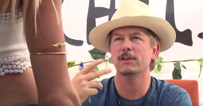 "David Spade roasts music festivals offering ""gluten-free"" drugs and self-esteem IVs"