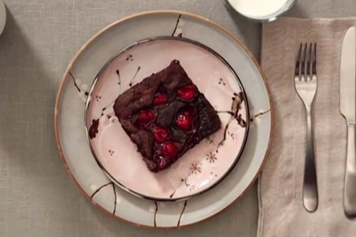Cherry pie filling puts a sweet twist on plain old chocolate brownies