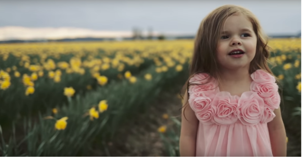 Listen as this 4-year-old beauty delivers a spine-tingling hymn perfect for Easter
