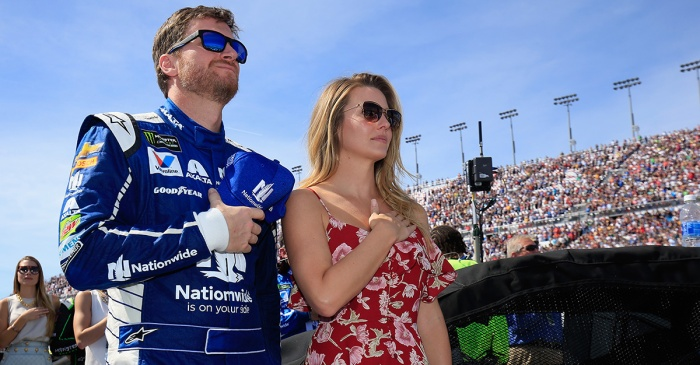 Amy Earnhardt's emotional response to hubby Dale Jr.'s retirement announcement is melting hearts