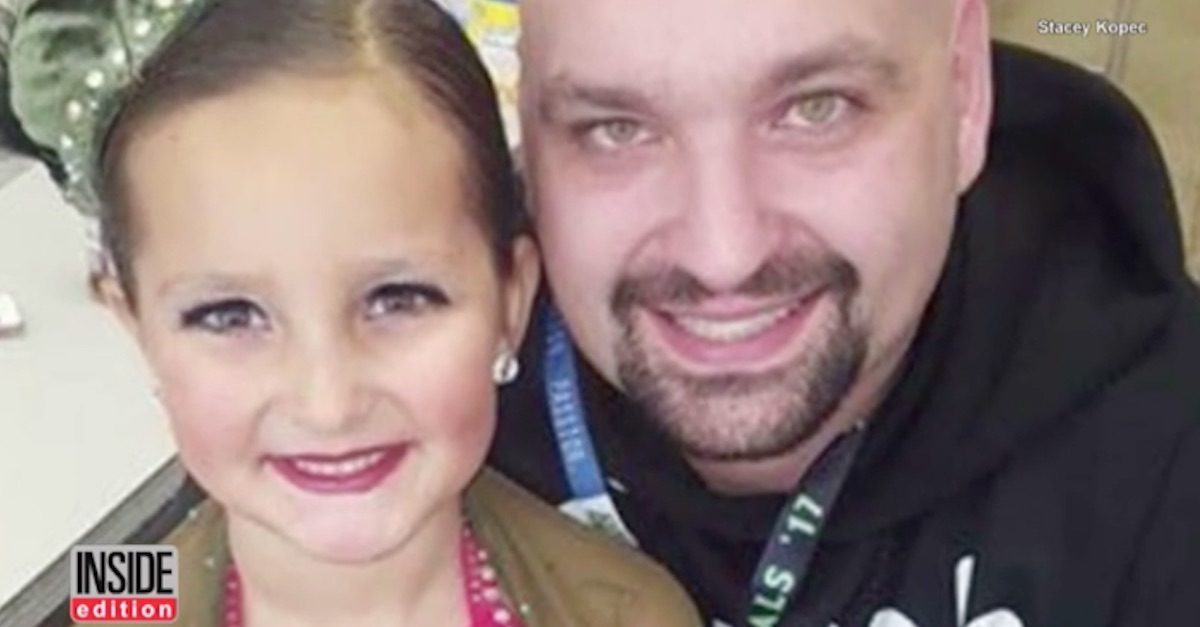A budding young dancer has tragically lost a leg after frightening flesh-eating bacteria spread throughout her body