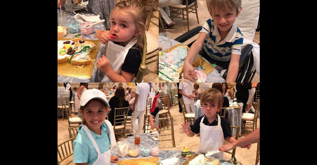 Getting ready for the Easter Bunny! Donald Trump Jr. shares a photo of his children taking part in the family's annual tradition