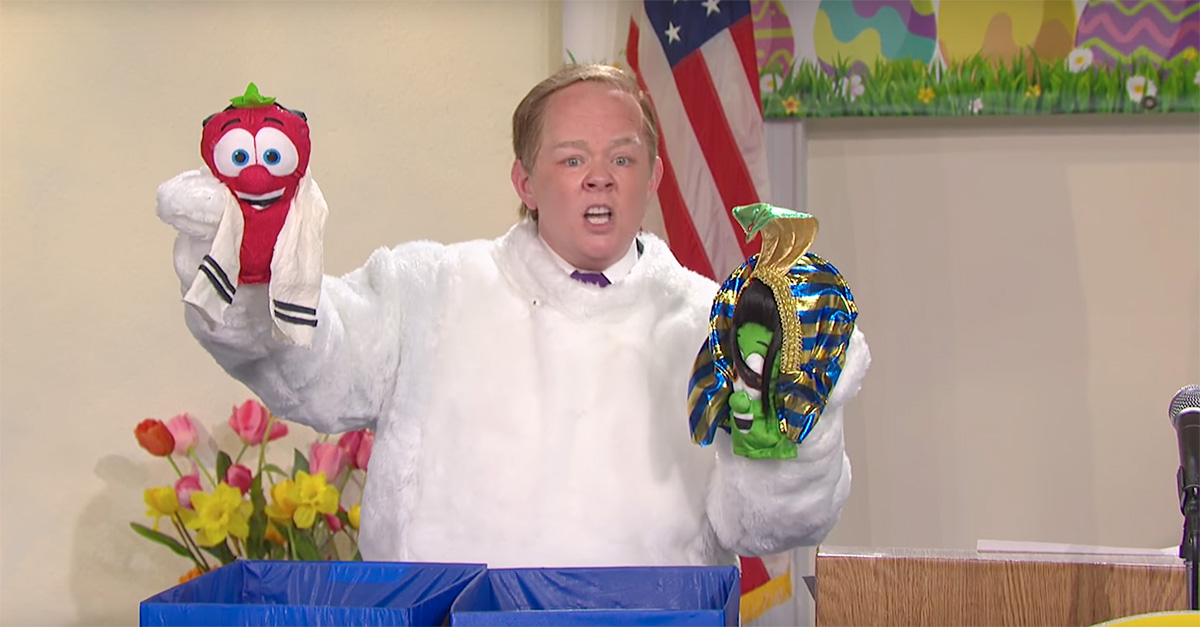 """Melissa McCarthy hits """"SNL"""" as Easter Bunny Sean Spicer"""