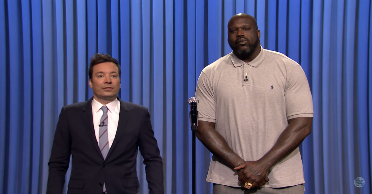 Fallon and Shaq face off in an epic Lip Sync Battle