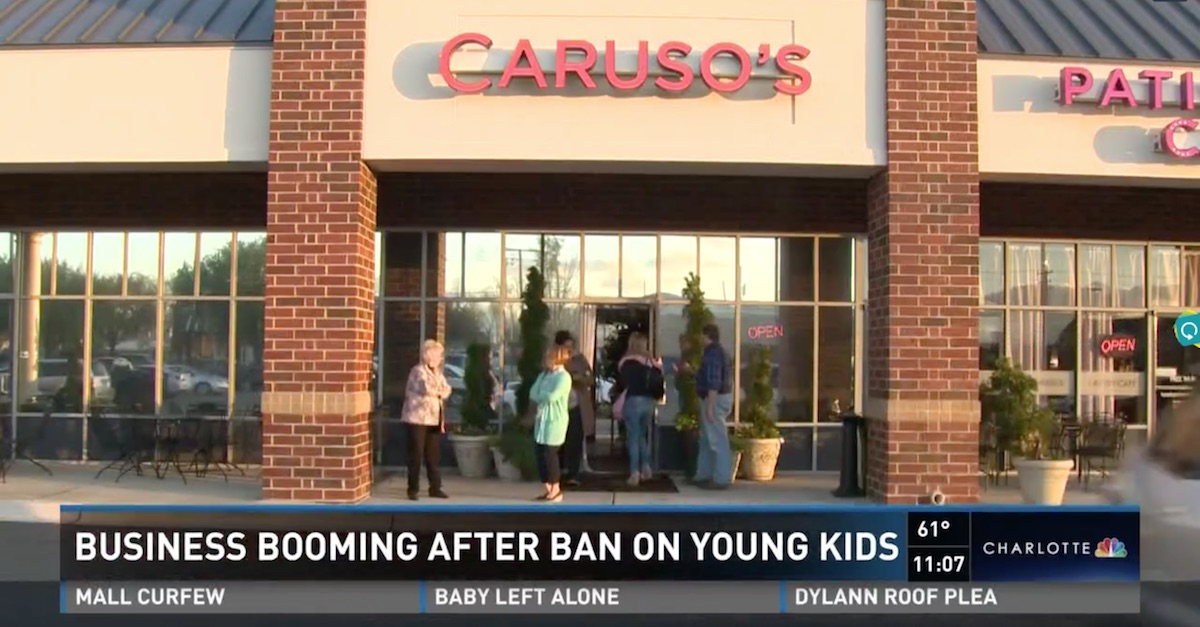Some parents were unhappy when kids were banned from this restaurant, but business is now booming