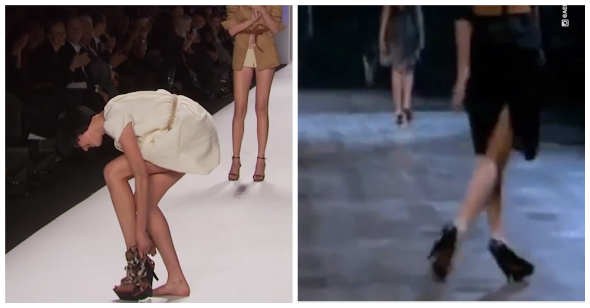You thought models were flawless? Here they are falling all over themselves