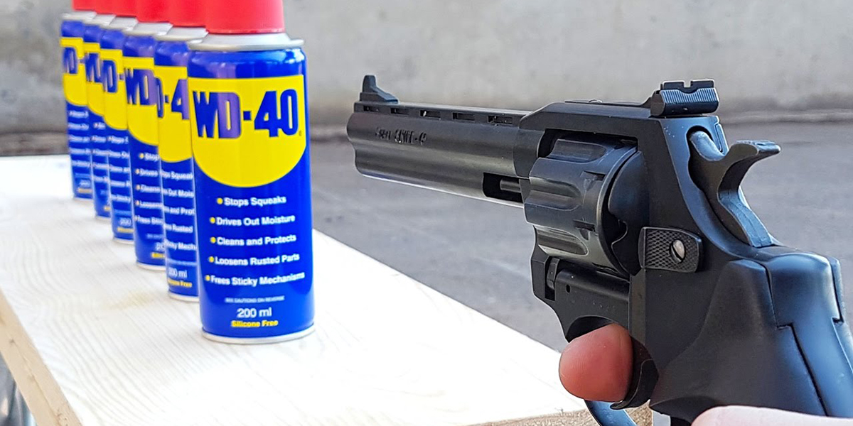 Watch what happens when you take a little pistol to WD-40 doused in ethanol