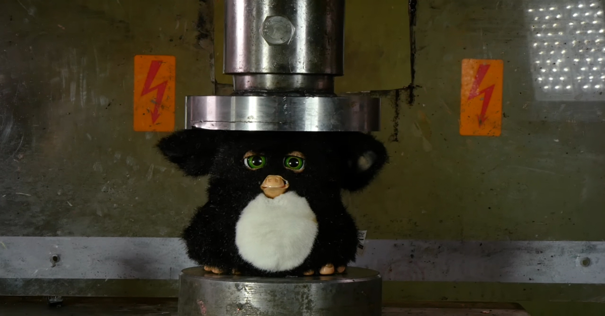 '90s kids may squeal at this incredibly satisfying video of a Furby being obliterated