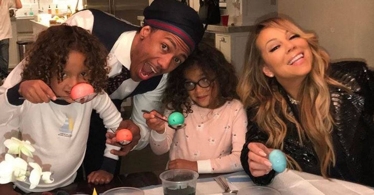 Friendly exes Nick Cannon and Mariah Carey reunite to celebrate Easter with their adorable kids