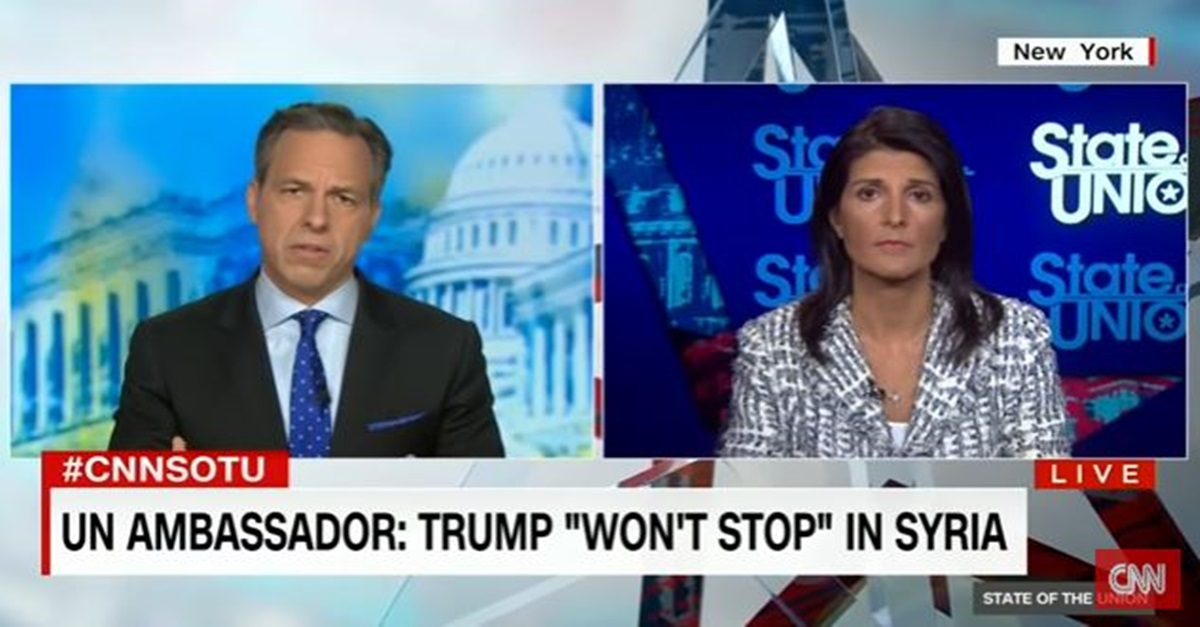 "Jake Tapper to Trump administration official: Is President Trump still worried about Syrian intervention ""starting WWIII?"""