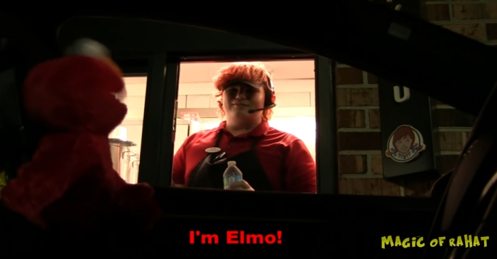Elmo goes to fast-food restaurants and completely freaks out the employees in this brilliant prank