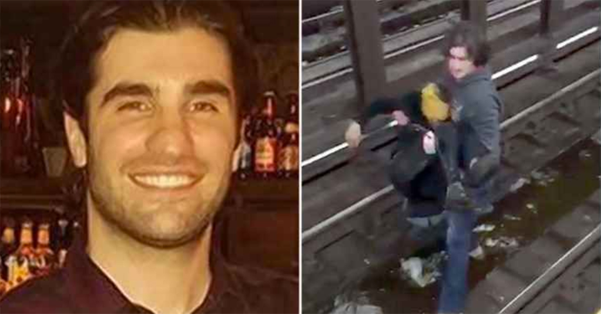 Hero captured on video saving fallen man in NYC subway seconds before train arrives