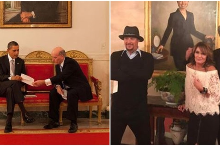 Following Sarah Palin's photo with Hillary Clinton's portrait, Obama's WH photographer responds in a way only he can