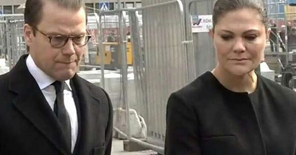 Swedish princess breaks down while visiting this week's terror attack site