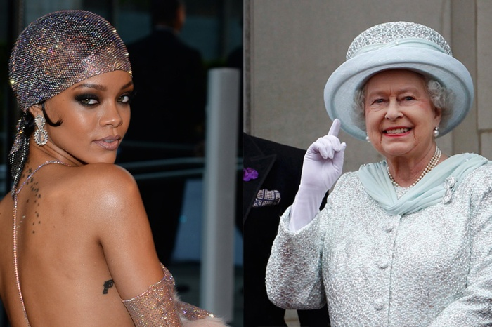 Just a day after the Queen's birthday, Rihanna shares incredible photoshopped pictures combining their looks