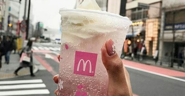 In honor of cherry blossom season, a gorgeous new drink is blooming at McDonald's