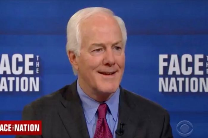 "Watch as John Cornyn whips the entire Senate during an appearance on ""Face the Nation"""