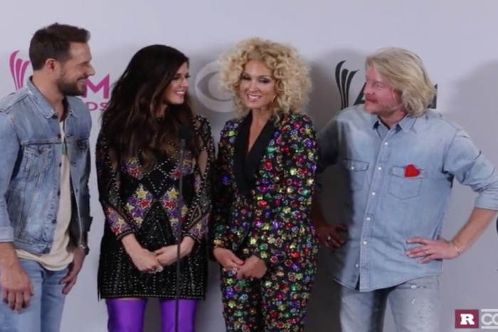 One member of Little Big Town fights back tears at the ACM Awards