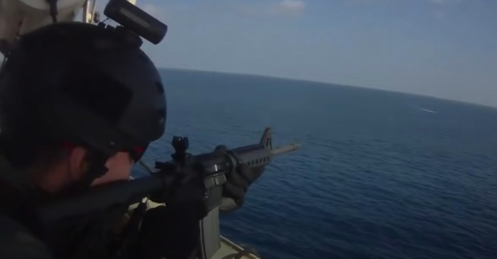 Somali Pirate Attack Against Ship Filled with Heavily Armed Americans Captured on Video