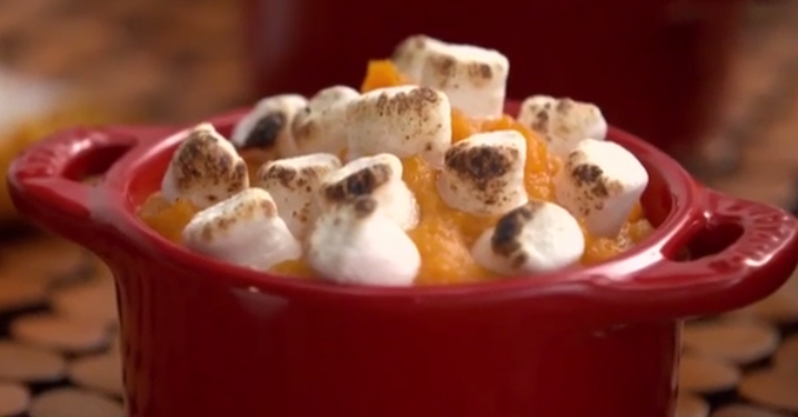Nutritious sweet potatoes and delicious marshmallows come together to make one epic side dish