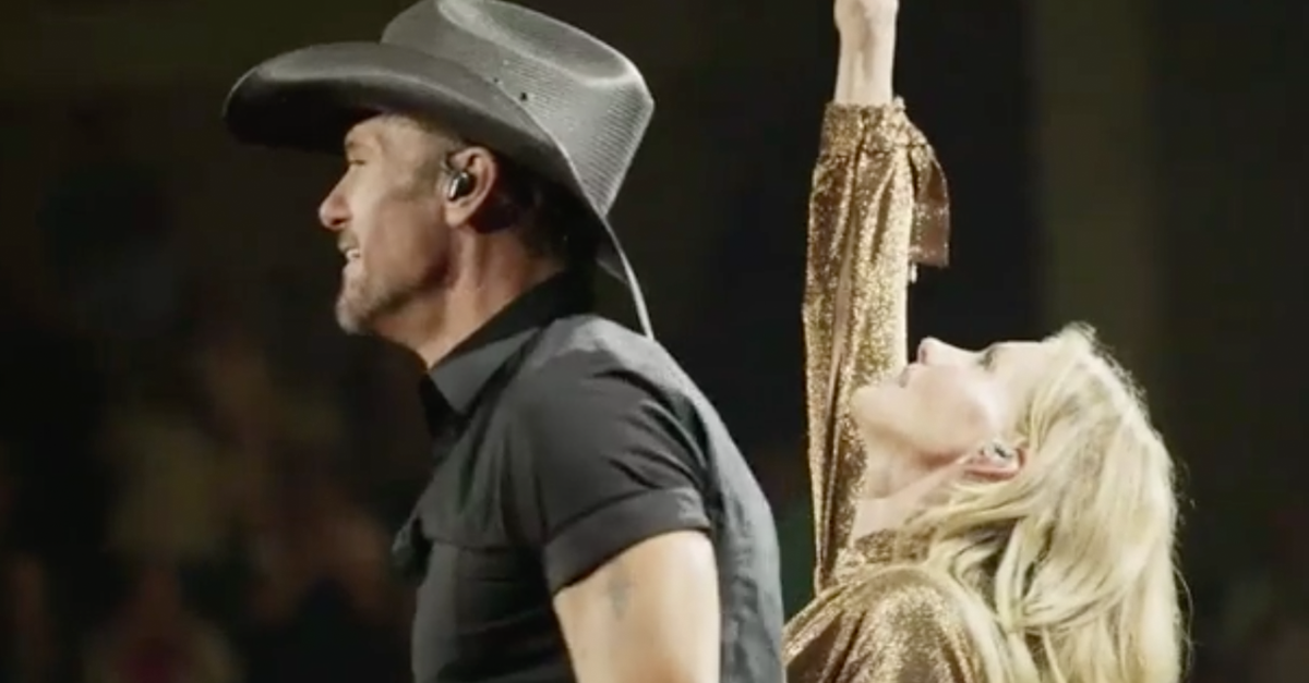 You've got to see this hot new Tim McGraw and Faith Hill tour video