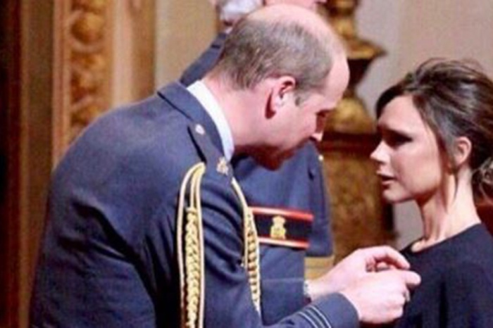 Prince William presented former Spice Girl Victoria Beckham with a very prestigious honor in England