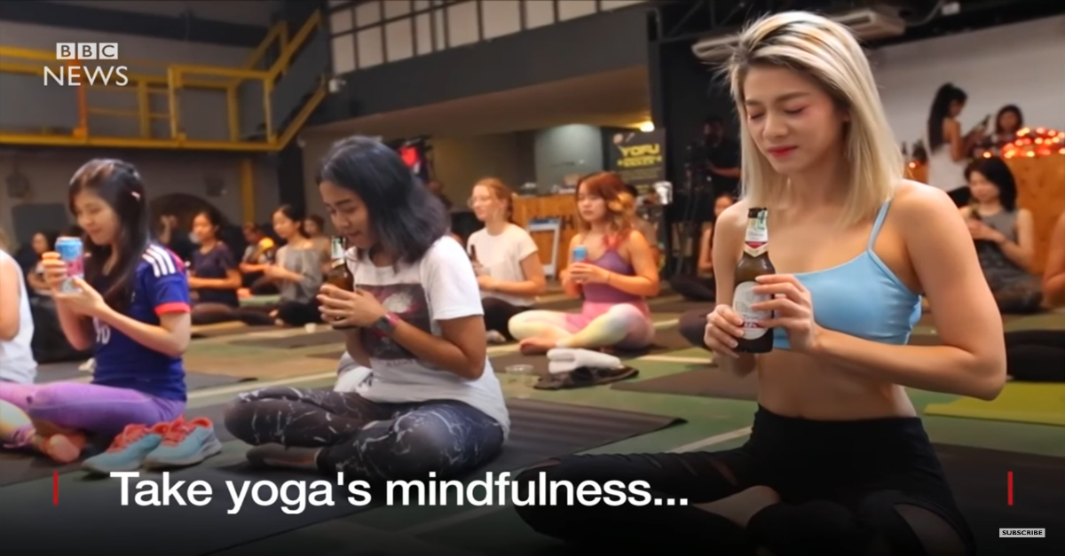 """Beer yoga"" is Asia's newest fitness craze and we can't wait to get involved"