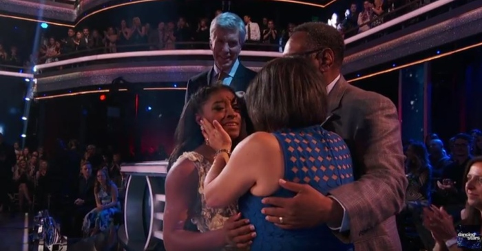 "There wasn't a dry eye in the audience when Simone Biles shared her emotional adoption story on ""DWTS"""