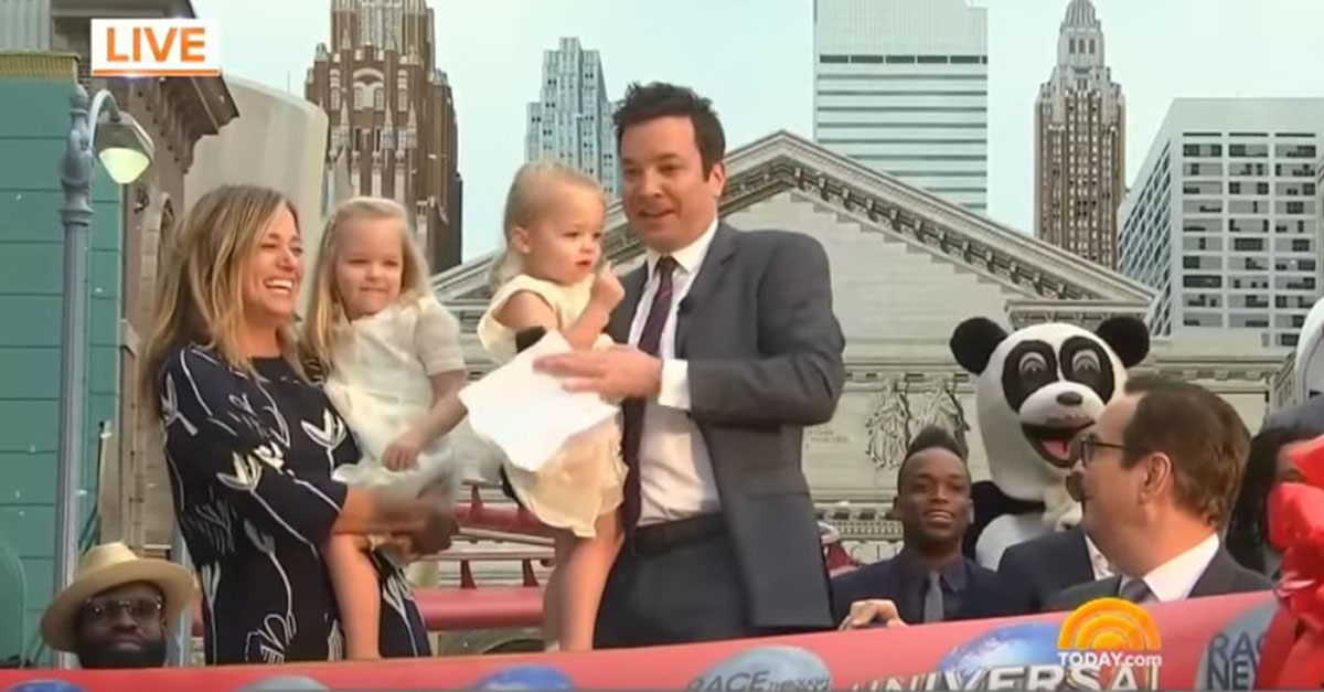 Jimmy Fallon opened his new ride at Universal Studios, but his adorable daughters really stole the show