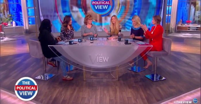 "The ladies of ""The View"" pledge their support for Ann Coulter's right to ""speak freely"" at UC Berkeley"