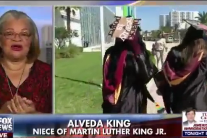 Alveda King has some strong words for the students who protested Betsy DeVos