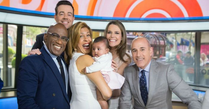 "The ""TODAY"" cast couldn't keep it together when Hoda Kotb surprised them with baby Haley Joy"
