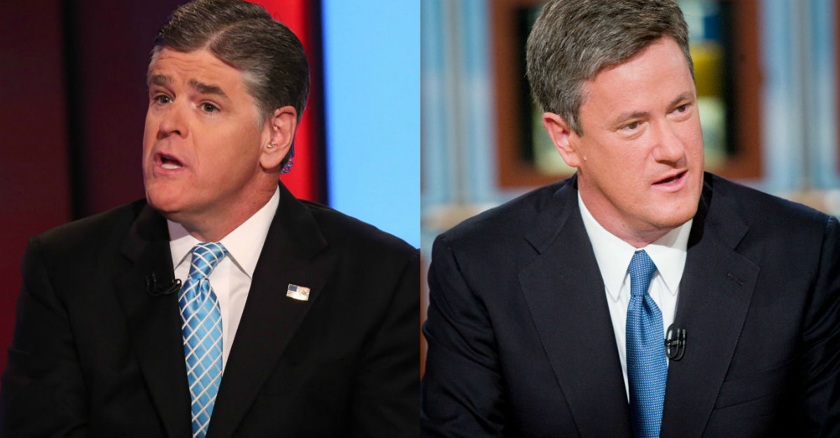 And the blows go lower as Sean Hannity and Joe Scarborough battle over coverage of a DNC staffer's death