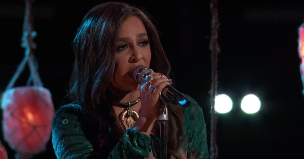 "A former champion just debuted this brand-new single on ""The Voice"""