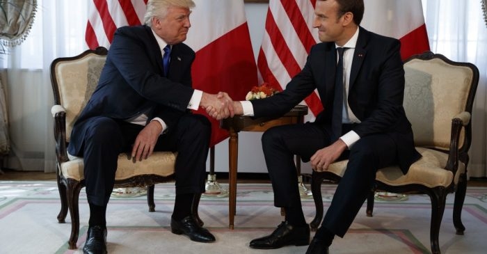 French president Macron just beat President Trump at his own game in a handshake showdown for the ages