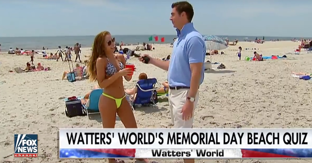Beachgoers getting quizzed on their knowledge of American sacrifice will make you cringe