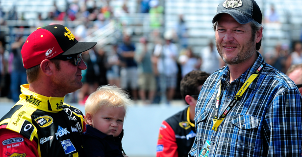 Blake Shelton is dreaming up some crazy plans with his NASCAR buddy
