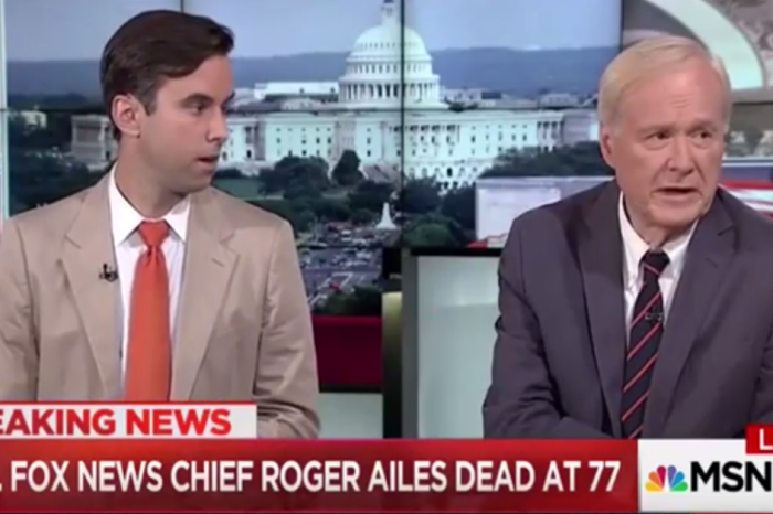 Chris Matthews and Joe Scarborough eulogize Roger Ailes moments before boasting their ratings over Fox