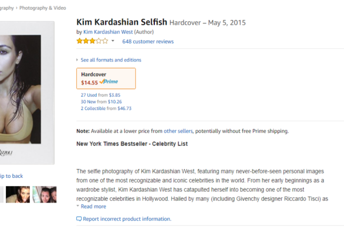 "When Kim Kardashian came out with a ""selfie collection,"" the Amazon reviewers were hilariously brutal"
