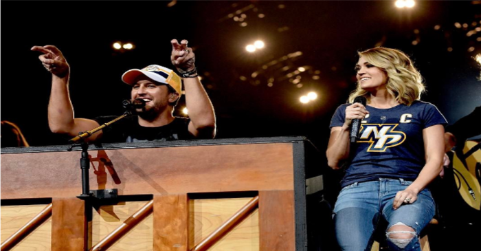 Luke Bryan and Carrie Underwood shocked a sell-out crowd in Nashville