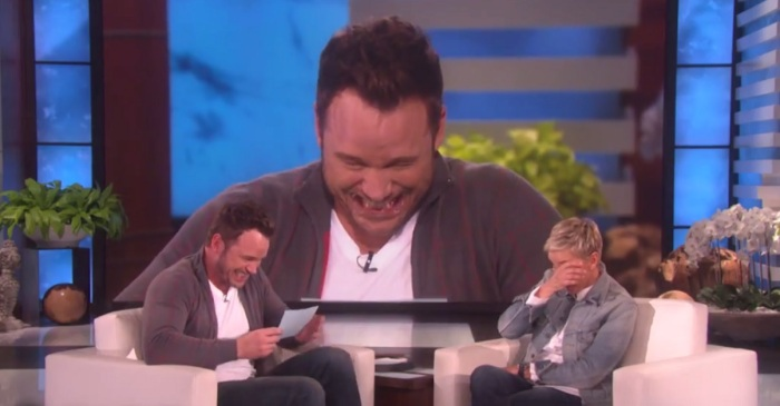 "Chris Pratt's ""Ellen"" segment goes completely off the rails when he asks to ""bump"" her"