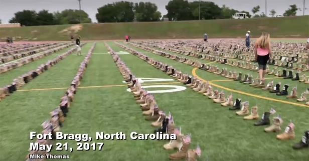 Take a look at this moving memorial dedicated to soldiers who lost their lives in Iraq and Afghanistan