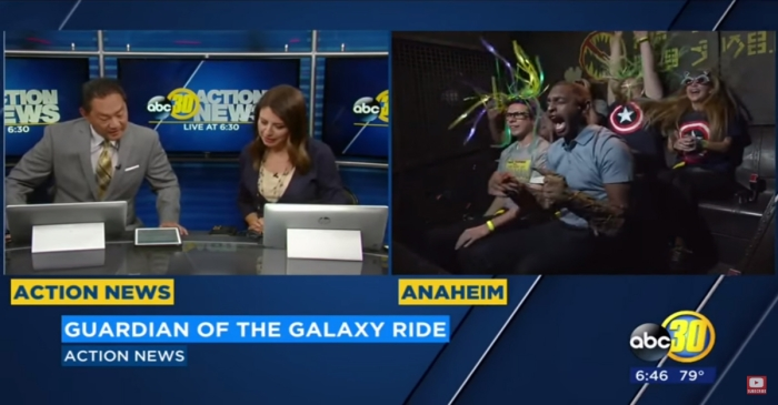"This reporter immediately regretted his decision to try out the new ""Guardians of the Galaxy"" ride on live TV"