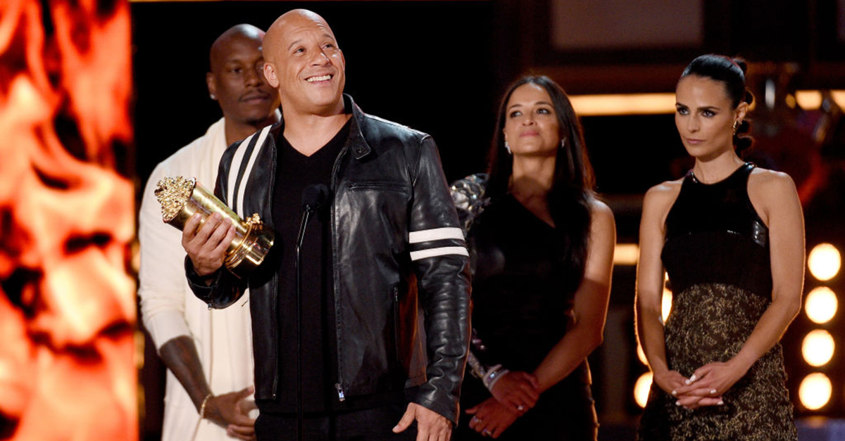 "Vin Diesel honored his ""brother"" Paul Walker as he accepted the MTV Generation Award for ""Fast and Furious"""