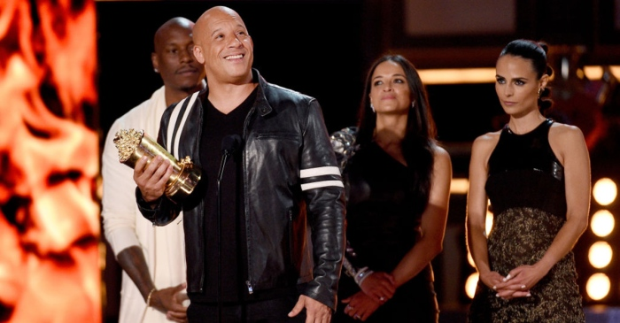 """Vin Diesel honored his """"brother"""" Paul Walker as he accepted the MTV Generation Award for """"Fast and Furious"""""""