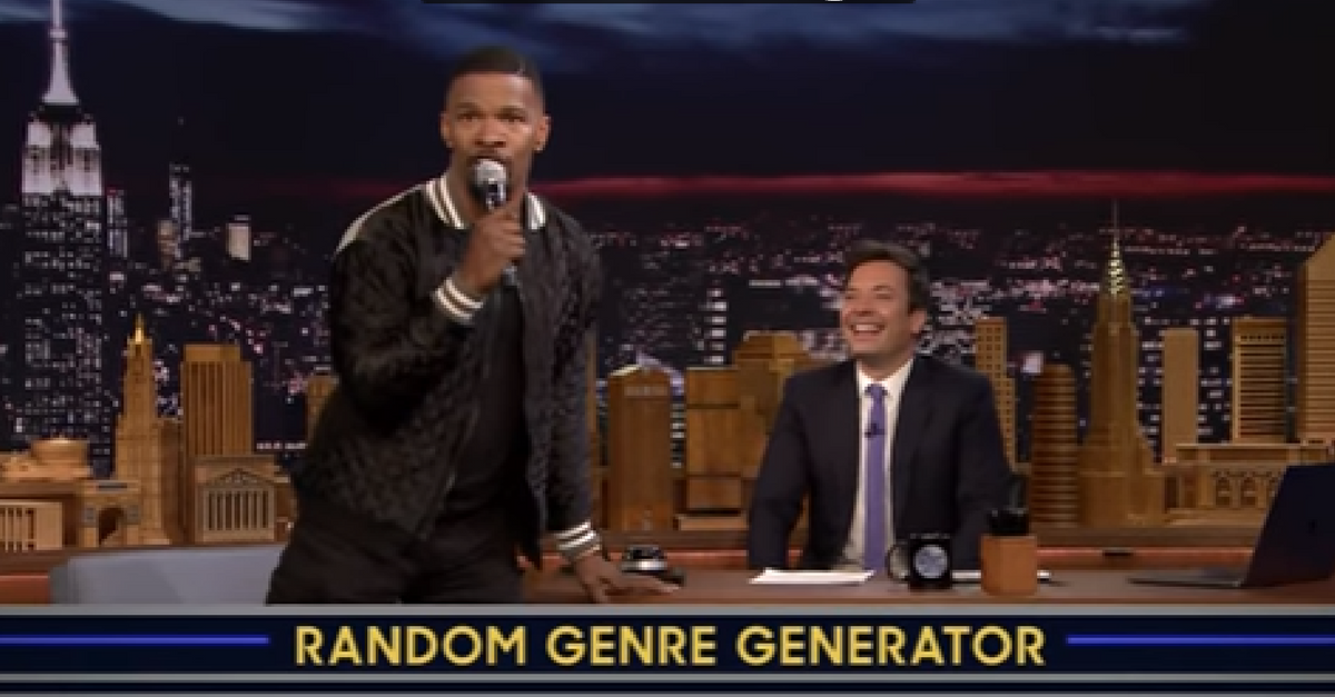 """Jamie Foxx is the latest celebrity to play Jimmy Fallon's """"Musical Genre Challenge,"""" and he had us in stitches"""