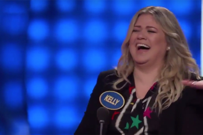 "Kelly Clarkson couldn't help but laugh uncontrollably over this ""Family Feud"" answer"