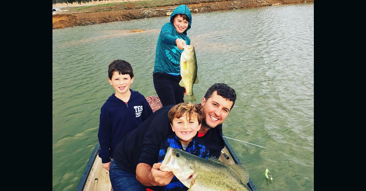 Luke Bryan's batteries are fully recharged after spending downtime with his boys