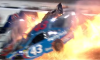 nascar accident fire