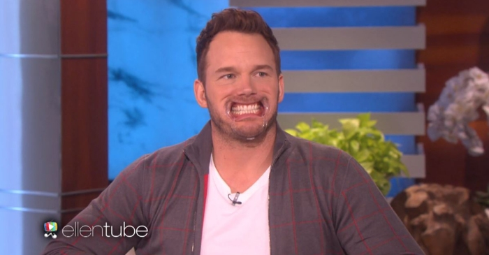"Chris Pratt loses his composure playing ""Speak Out"" with Ellen DeGeneres"